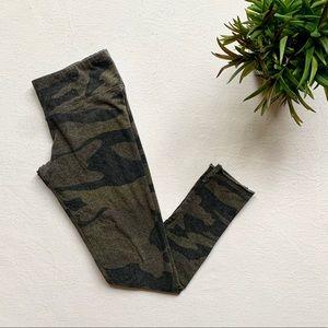 TNA Equator Leggings Green/Grey Camouflage XSmall